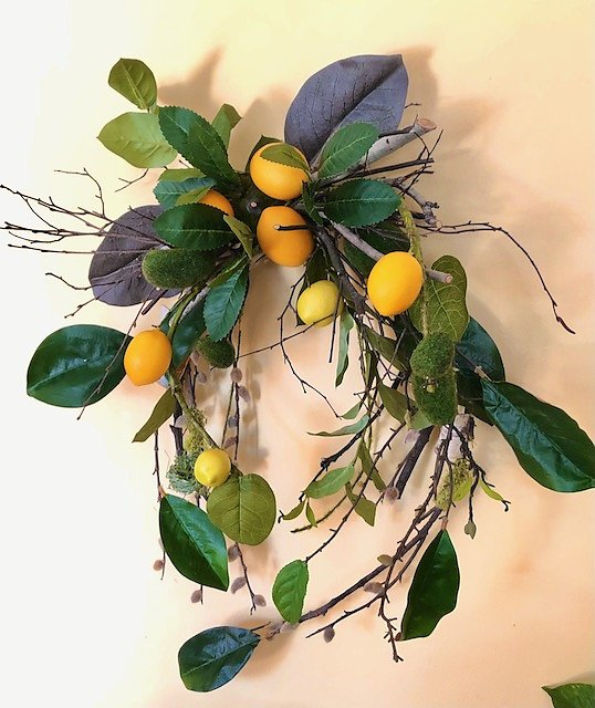 Florida Lemon Wreath