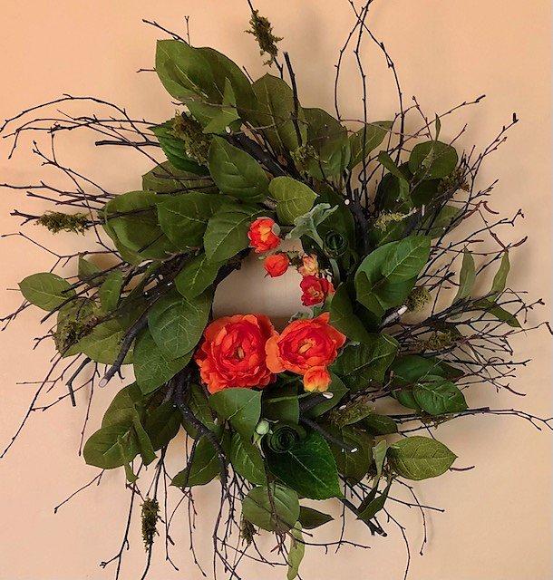 Orange Raunculus Flowers