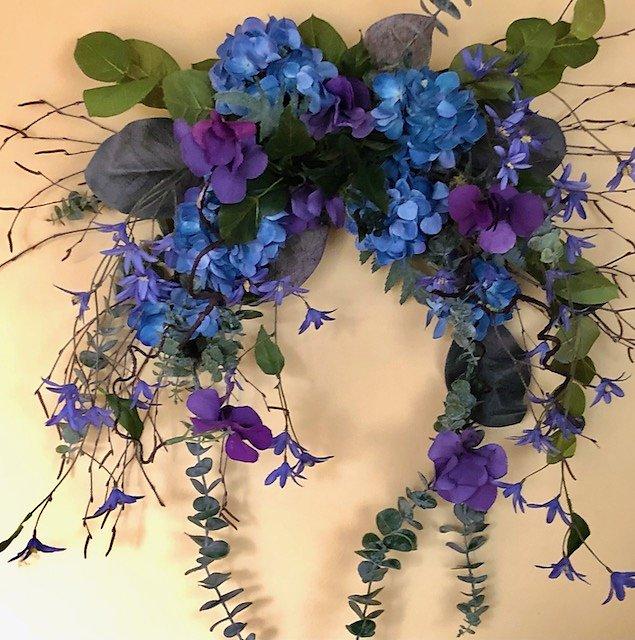 Blue and Purple Hydrangea